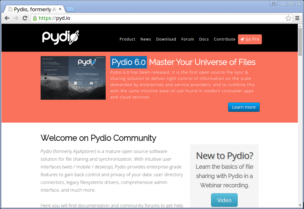 Pydio Cloud Storage