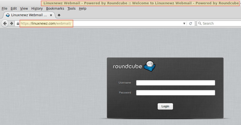 Roundcube Webmail Login
