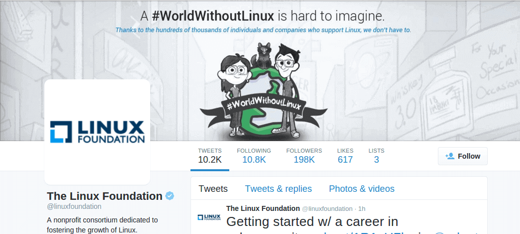 Follow @linuxfoundation