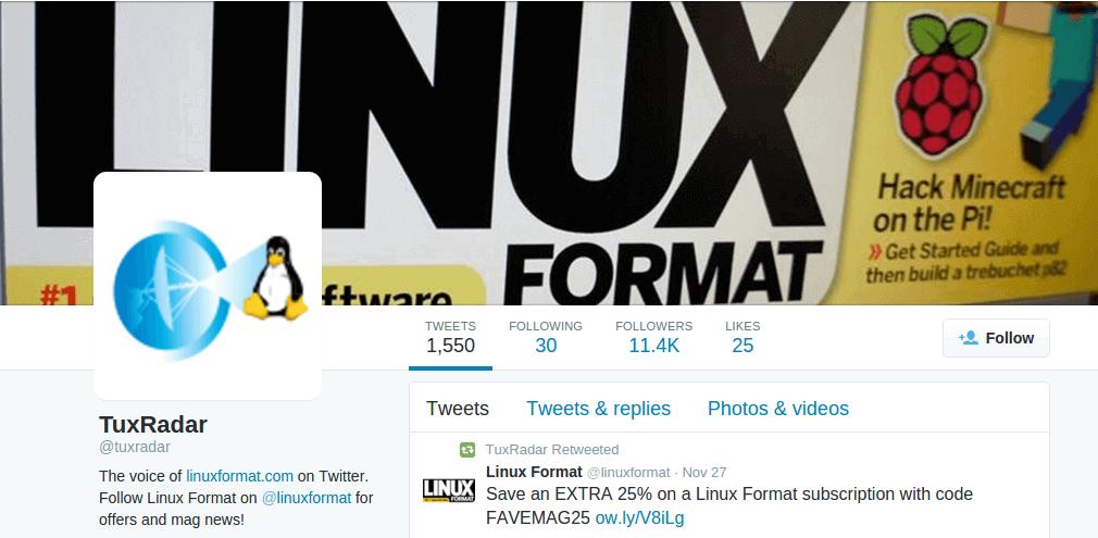 Follow @tuxradar