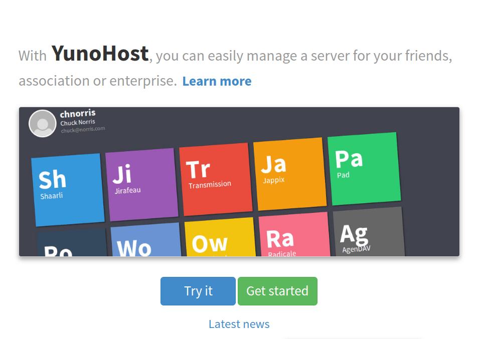 Máy chủ lưu trữ web cá nhân Yunohost