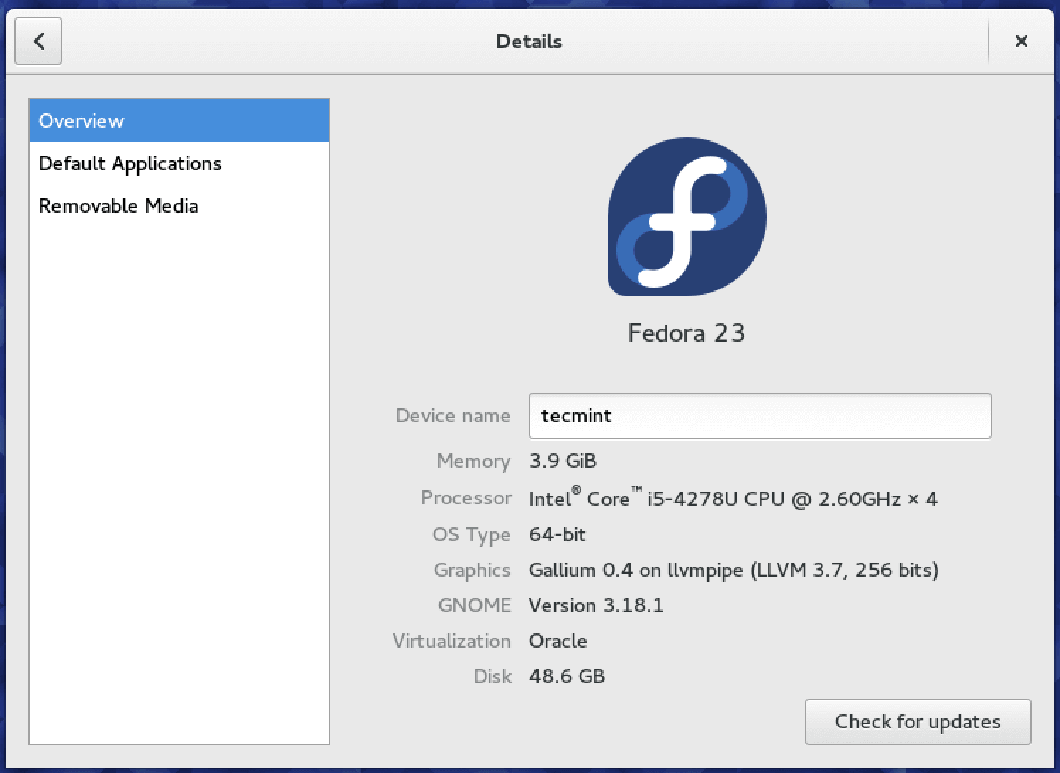 Upgraded to Fedora 23