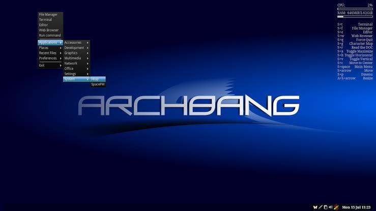 Archbang Linux Distribution