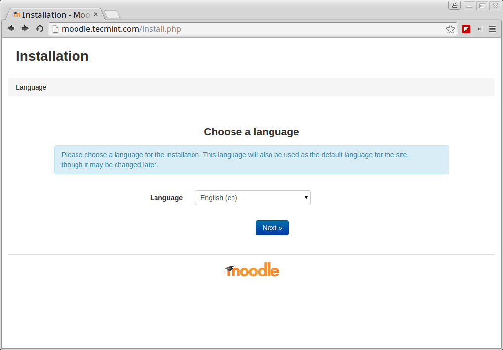 Choose Moodle Language