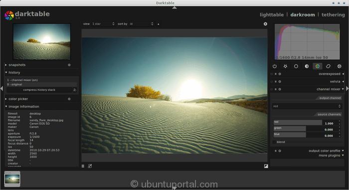 Darktable Image Editor