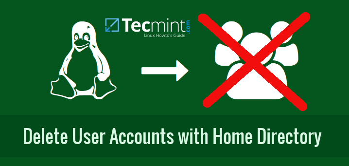 Delete User Accounts with Home Directory in Linux
