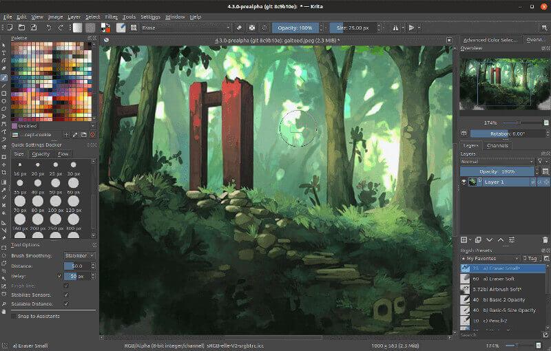 Krita - Raster graphics editor