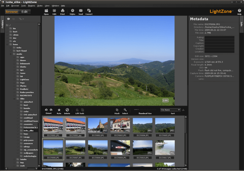 LightZone Image Editor