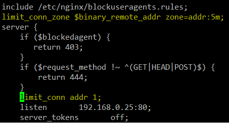 Limit Number of HTTP Requests in Nginx