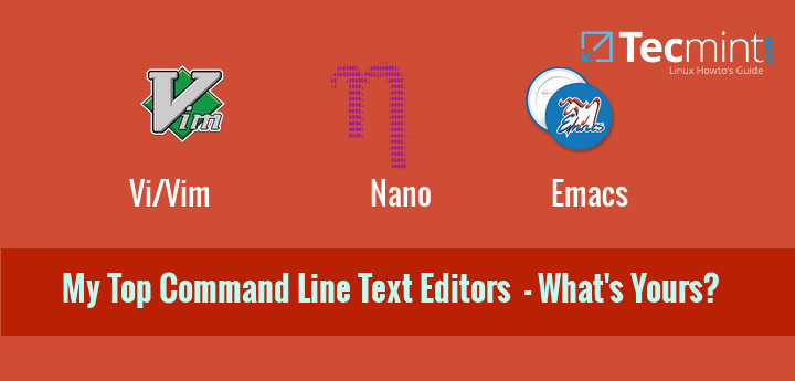 Linux Command Line Text Editors