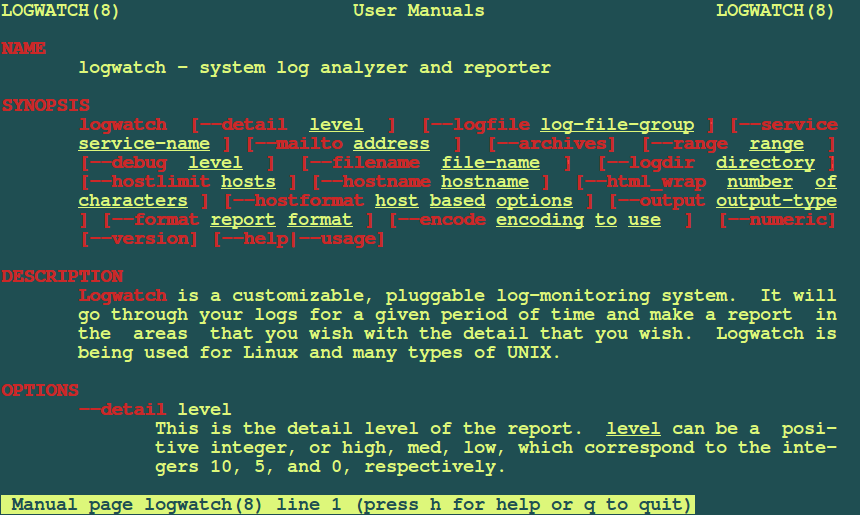 Logwatch Linux Log Analyzer