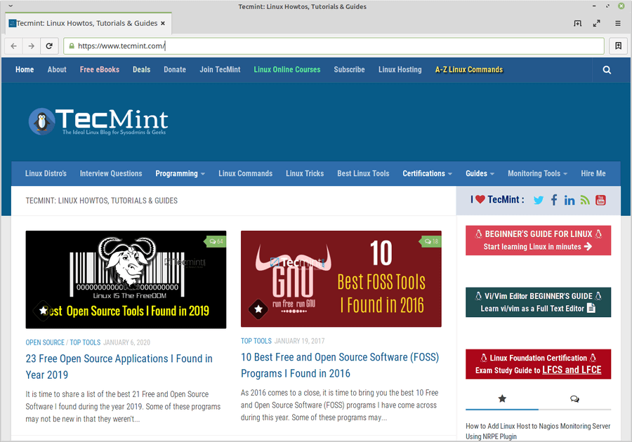 Trình duyệt Midori cho Linux