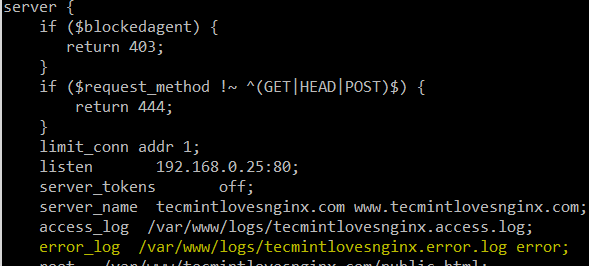 Nginx Error Log