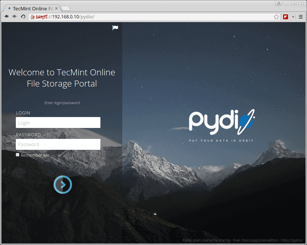 Pydio - Create Own File Sharing and Synchronization Portal like