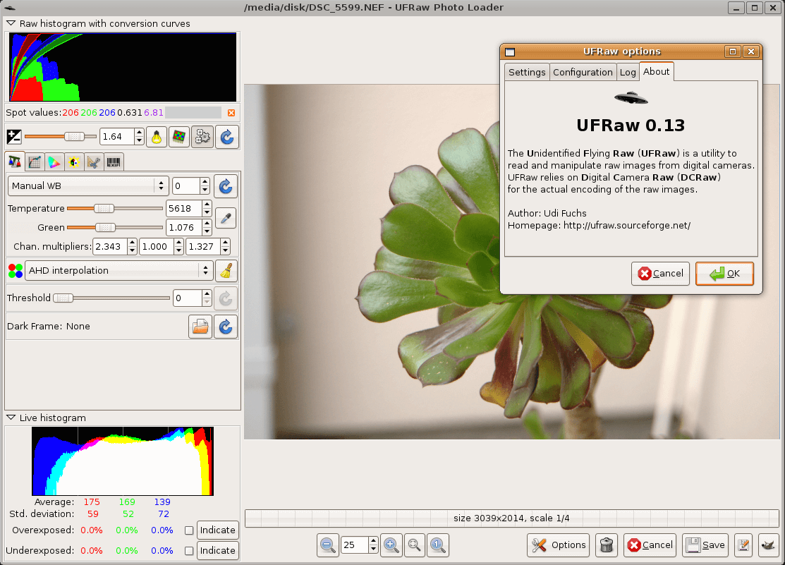 UFRaw Image Editor