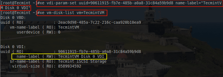 Rename VDI Name Label