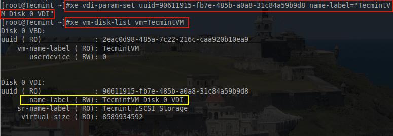 Rename VDI Name Label