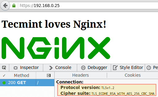 Verify TLS Nginx Encryption