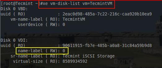 List Virtual Machine Disk Information