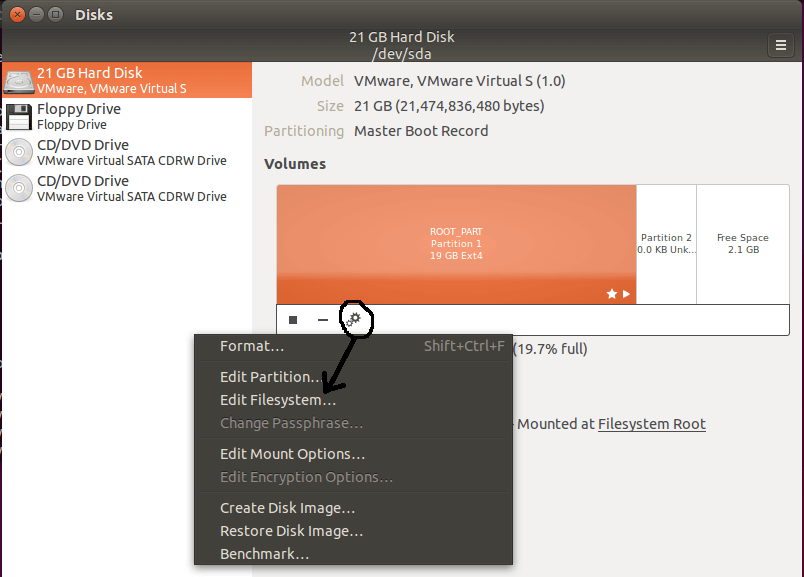 Change Linux Partition Label