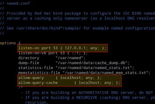 Configure Cache-Only DNS in CentOS and RHEL 7