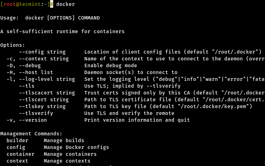 List Docker Commands