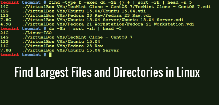 Find Largest Files and Directories Size in Linux