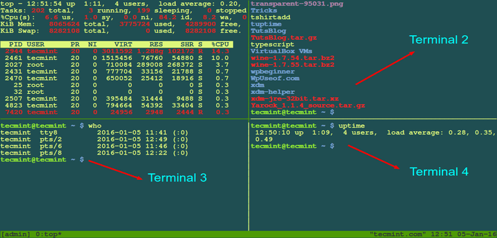 Tmux Manage Multiple Linux Terminals Inside Single Console