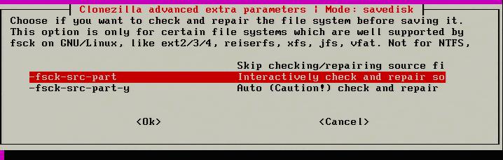 Check and Repair Filesystem