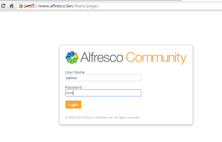 Configure Alfresco as Domain