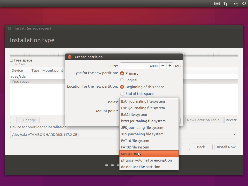 Create Swap Partition for Ubuntu 16.04