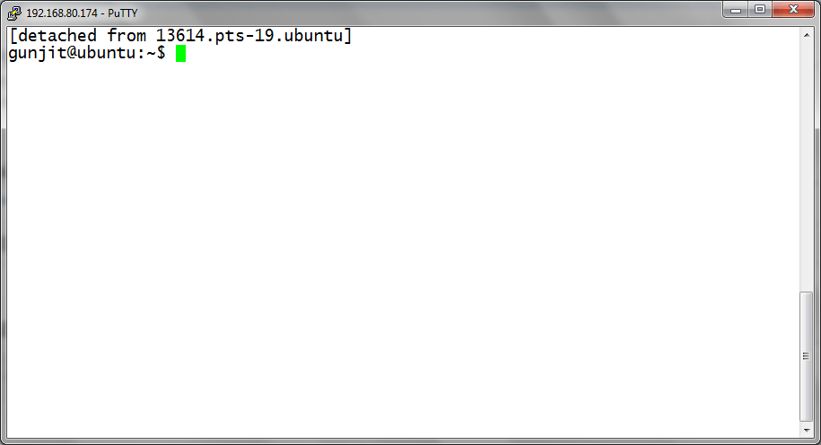 Detaching Linux Screen Session