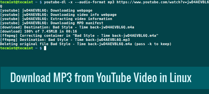 Download MP3 Track from YouTube Video