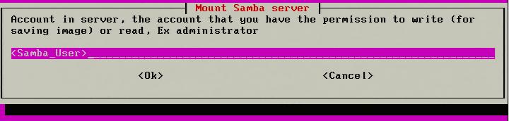 Enter Samba User