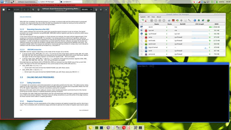 QubesOS Linux Distribution