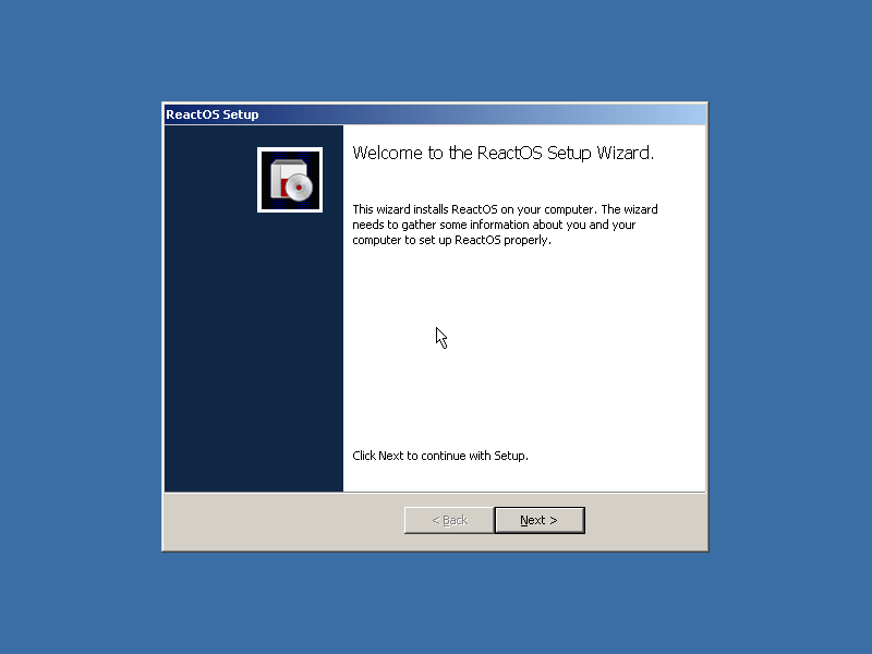 ReactOS Setup Wizard
