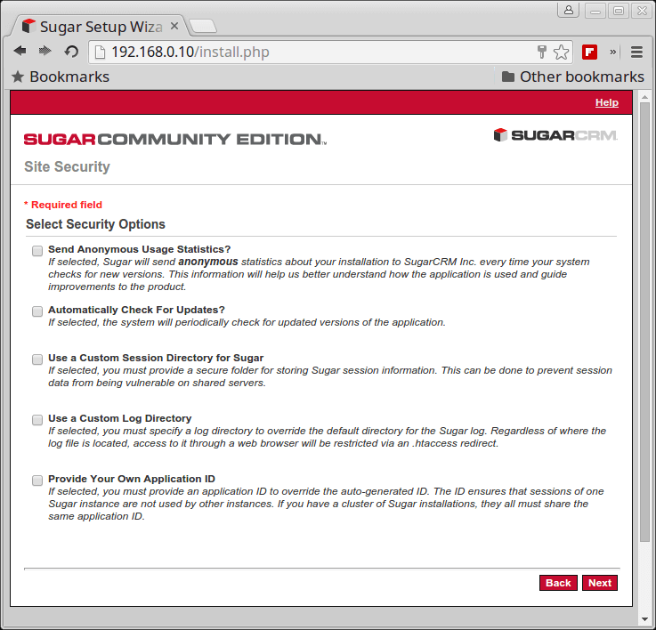 SugarCRM Site Security