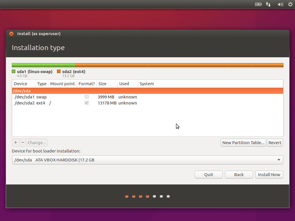 Ubuntu 16.04 Custom Partition Table