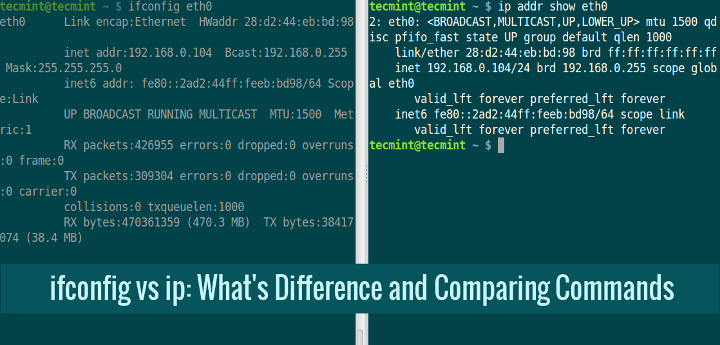 Ifconfig Vs IP Command