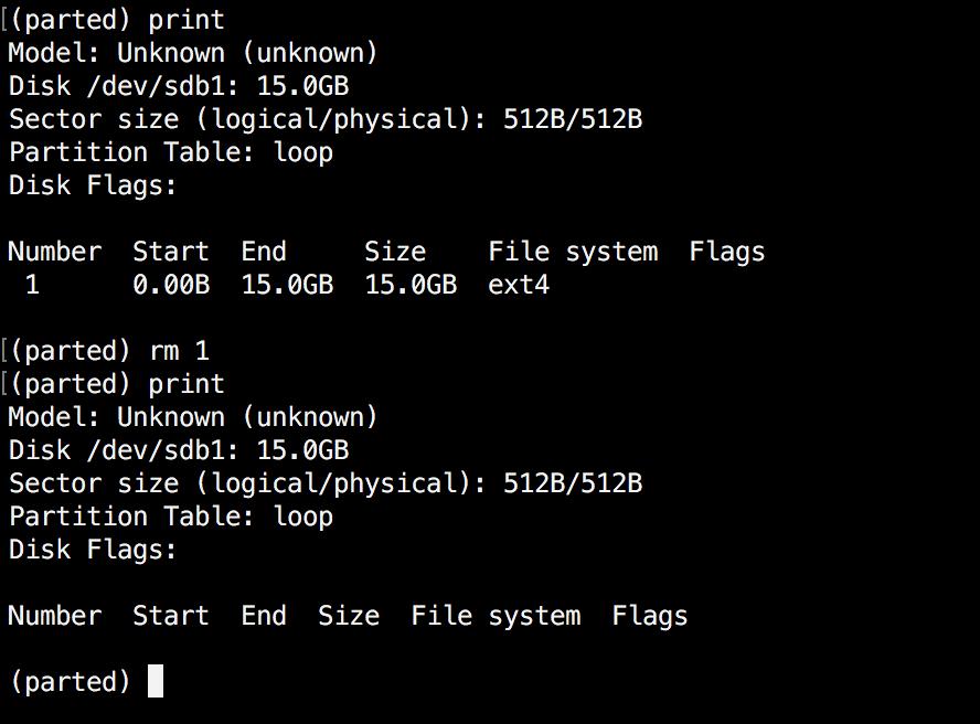 Delete a Linux Partition