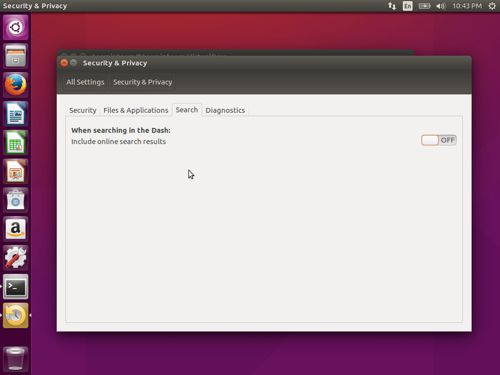 Ubuntu Settings Privacy Change