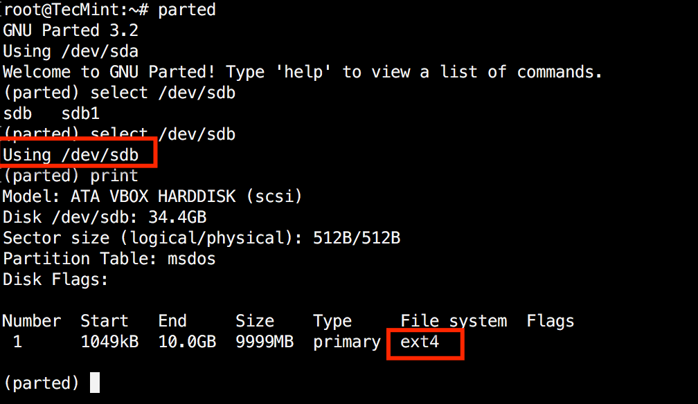 Verify Disk Partition Filesystem