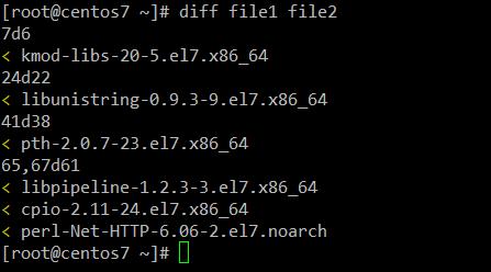 Comparar dos archivos de texto en Linux