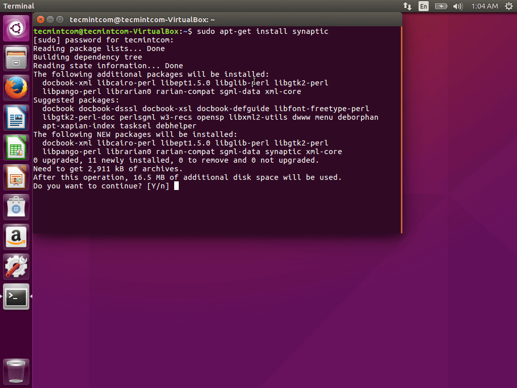 Install Synaptic Package Manager