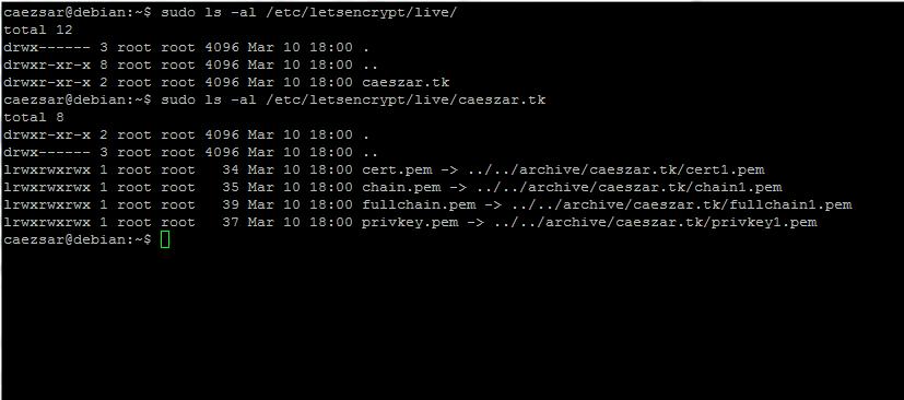 Letsencrypt SSL Certificates