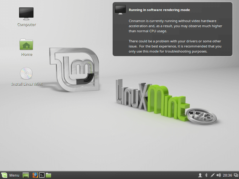 Linux Mint 17.3 - Cinnamon Desktop Installation