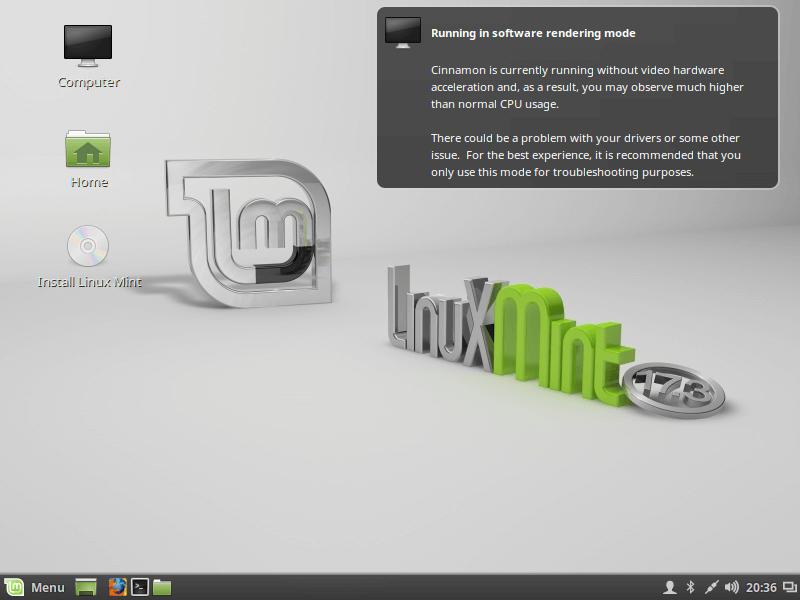 Linux Mint 17.3 - Cinnamon Desktop Installation