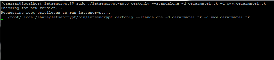 Obtain Free Lets Encrypt SSL Certificate for Website