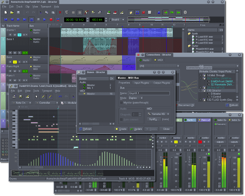 Qtractor Running on Linux