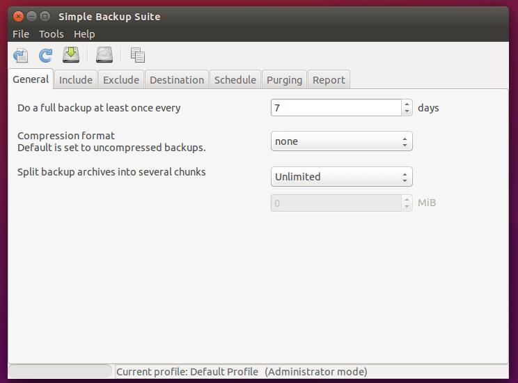 Herramienta de copia de seguridad simple sbackup